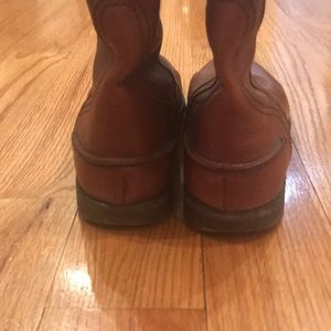 Madewell Shoes - Madewell Brown Leather Riding Boots Size 10
